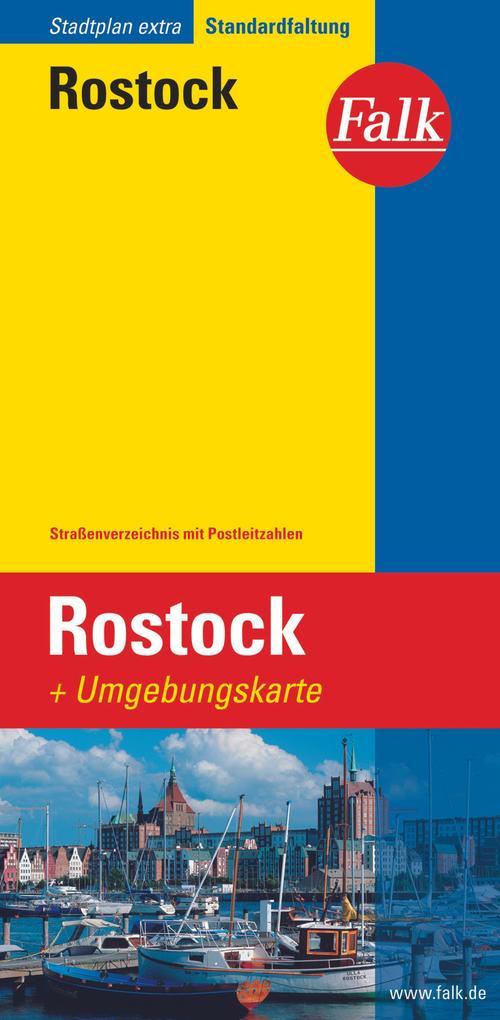 Falk Stadtplan Extra Standardfaltung Rostock 1:20 000 als Blätter und Karten