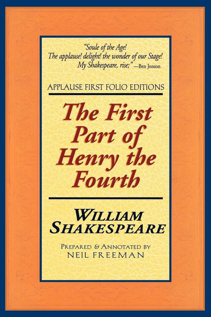 The First Part of Henry the Fourth als Taschenbuch