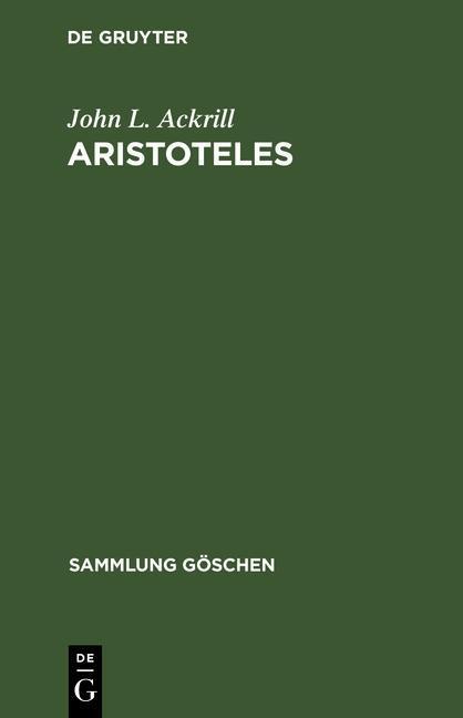 Aristoteles als eBook