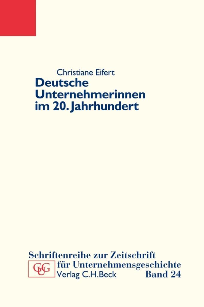 Deutsche Unternehmerinnen im 20. Jahrhundert als eBook pdf