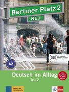 """Berliner Platz 2 NEU in Teilbänden - Lehr- und Arbeitsbuch 2, Teil 2 mit Audio-CD und """"Im Alltag EXTRA"""""""