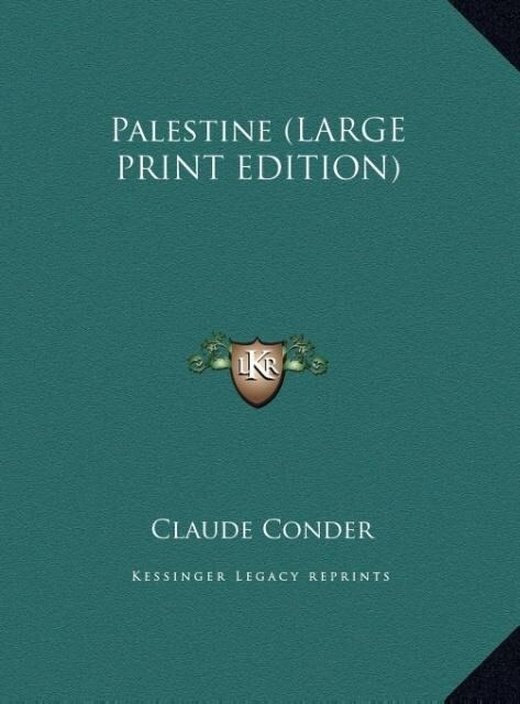 Palestine (LARGE PRINT EDITION) als Buch (gebunden)