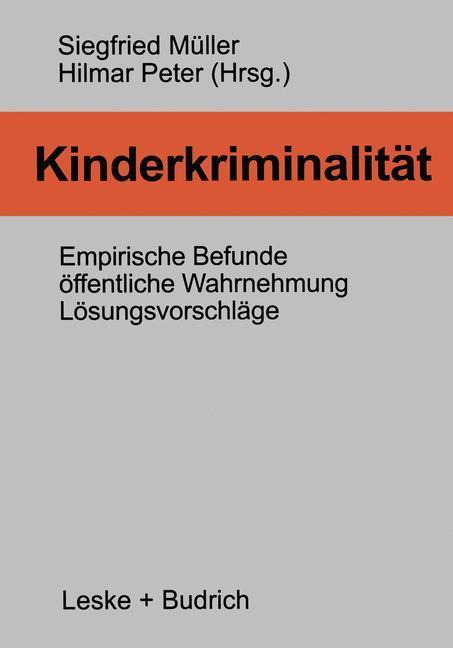 Kinderkriminalität als Buch (kartoniert)