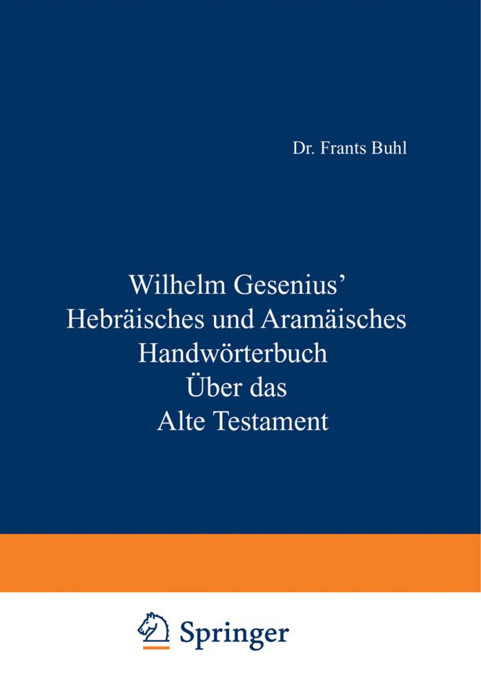 Hebräisches und Aramäisches Handwörterbuch über das Alte Testament als Buch (kartoniert)