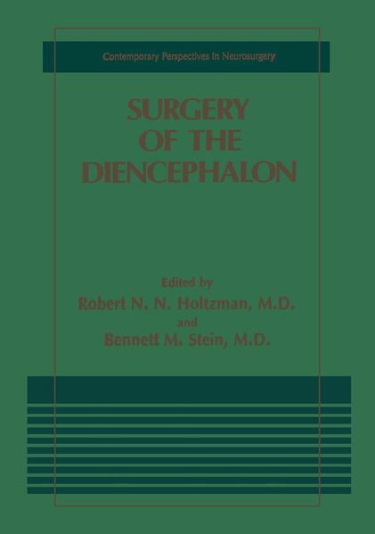 Surgery of the Diencephalon als Buch (kartoniert)