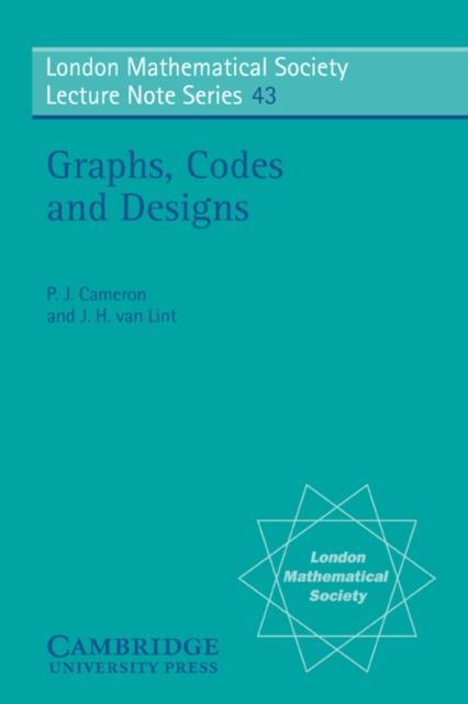 Graphs, Codes and Designs als eBook pdf