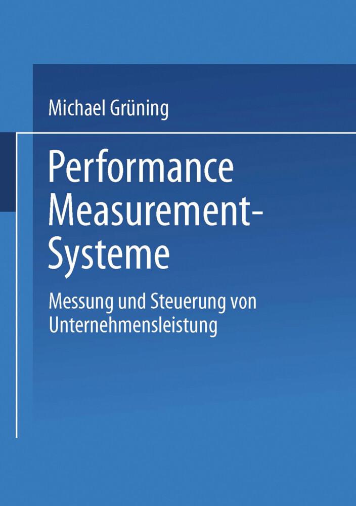 Performance-Measurement-Systeme als Buch (kartoniert)