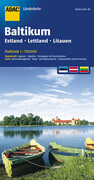 ADAC LänderKarte Baltikum, Estland, Lettland, Litauen 1:700 000