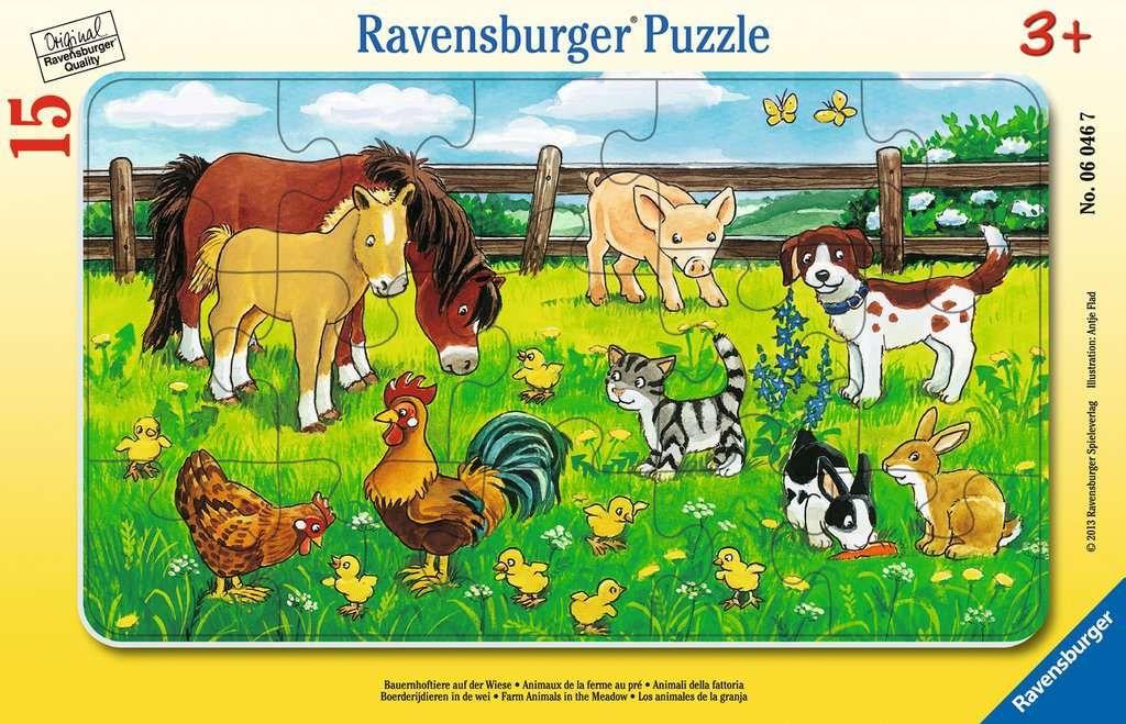 Bauernhoftiere auf der Wiese. Rahmenpuzzle 15 Teile.pdf