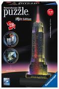 Ravensburger Spiel - 3D Vision Puzzle - Empire State Building bei Nacht, 216 Teile