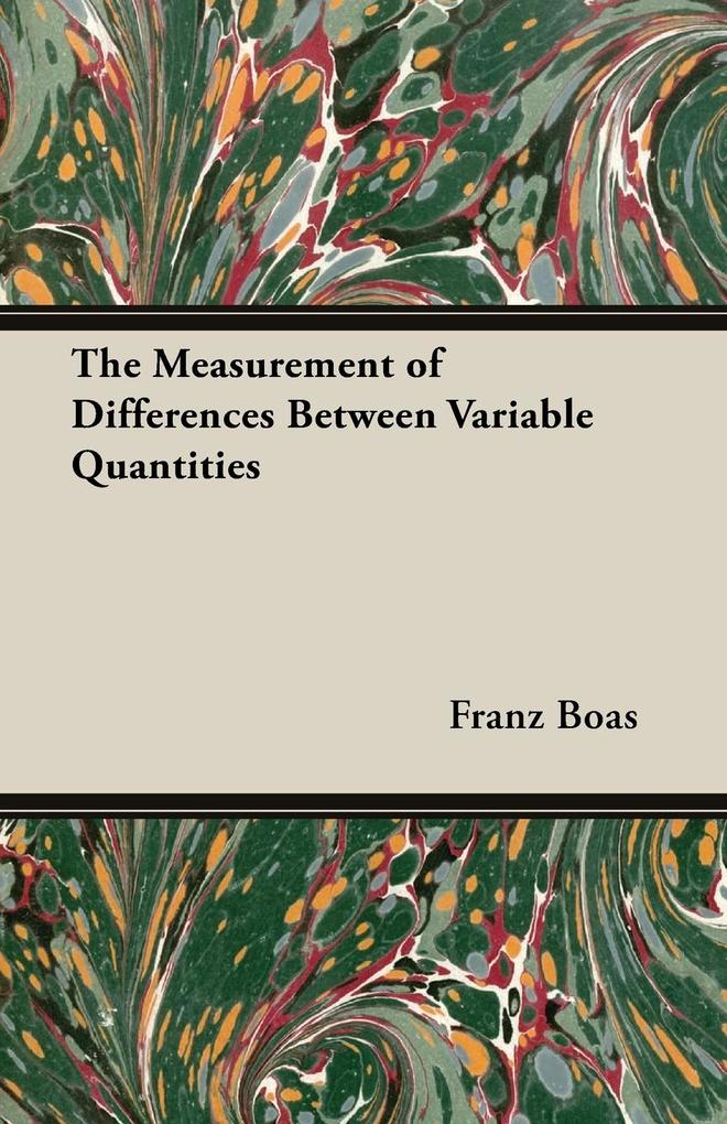 The Measurement of Differences Between Variable Quantities.pdf