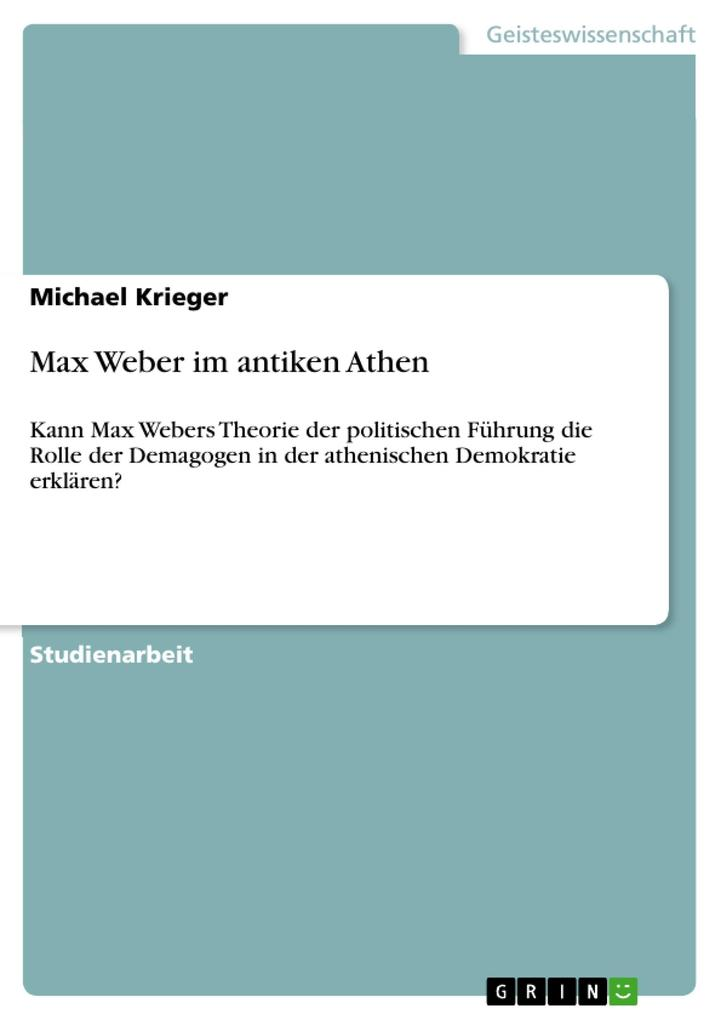 Max Weber im antiken Athen als Buch (geheftet)