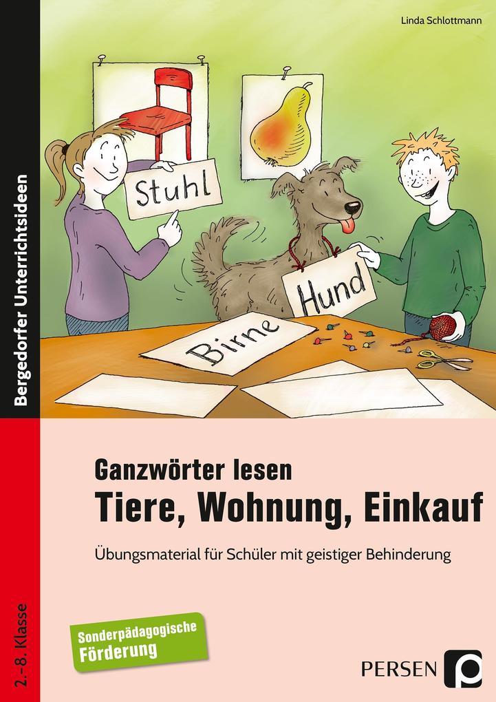 Ganzwörter lesen: Tiere, Wohnung, Einkauf.pdf