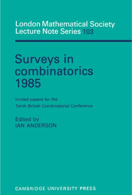 Surveys in Combinatorics 1985.pdf