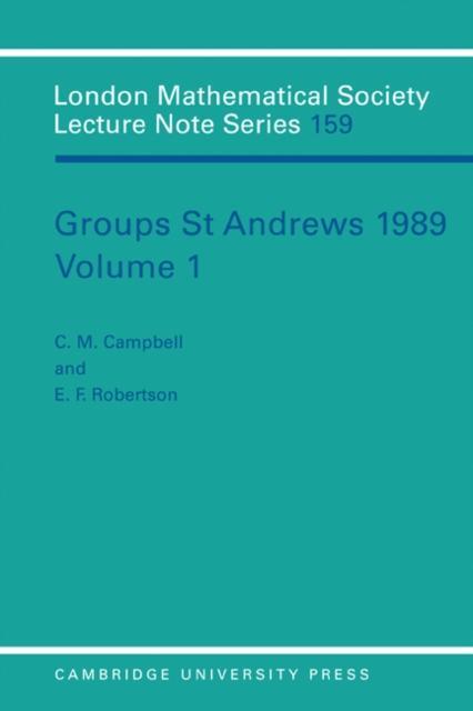 Groups St Andrews 1989: Volume 1.pdf