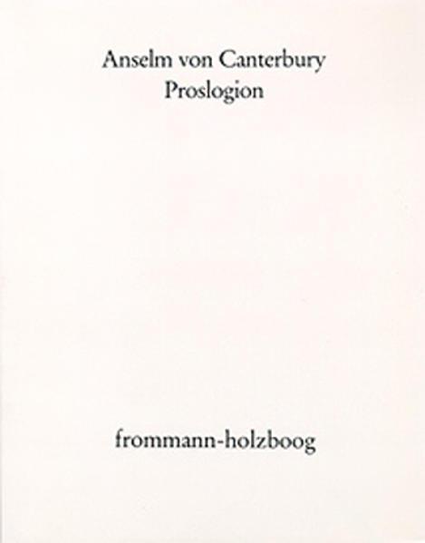 Proslogion als Buch (kartoniert)