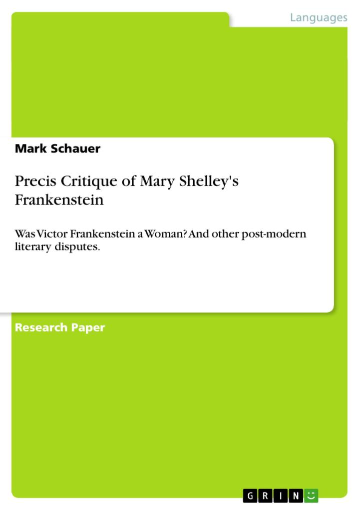 Precis Critique of Mary Shelleys Frankenstein.pdf