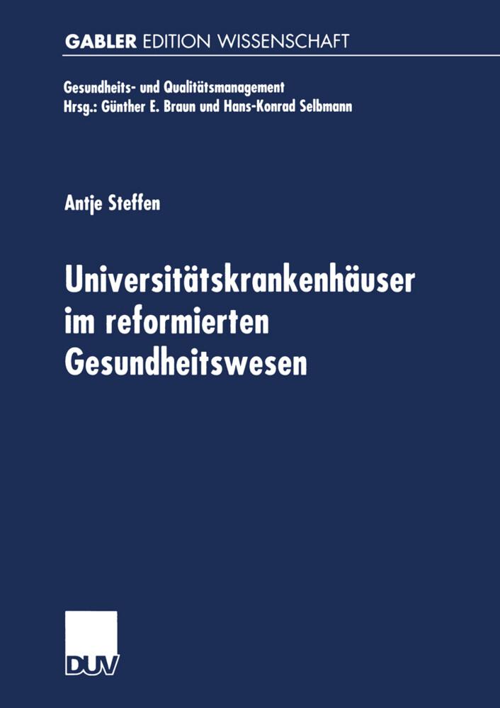 Universitätskrankenhäuser im reformierten Gesundheitswesen als Buch (kartoniert)