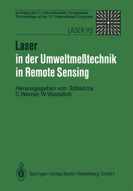 Laser in der Umweltmeßtechnik / Laser in Remote Sensing als Buch (kartoniert)