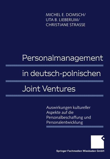 Personalmanagement in deutsch-polnischen Joint Ventures als Buch (kartoniert)