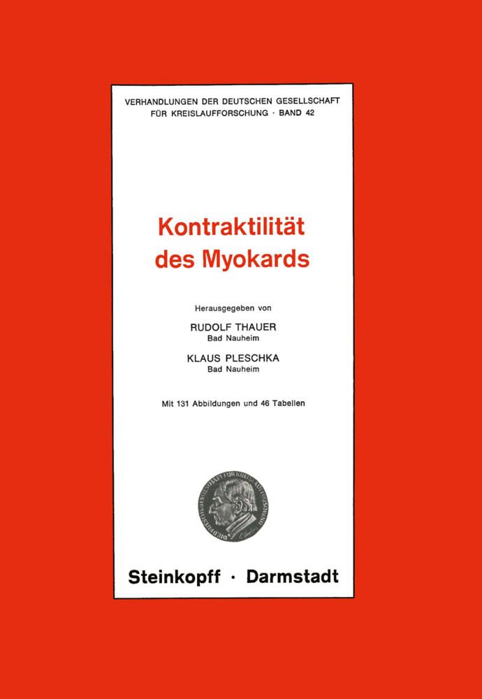Thema: Kontraktilität des Myokards als Buch (kartoniert)