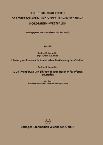 I. Beitrag zur flammenphotometrischen Bestimmung des Calciums. II. Die Wanderung von Schlackenbestandteilen in feuerfesten Baustoffen.pdf