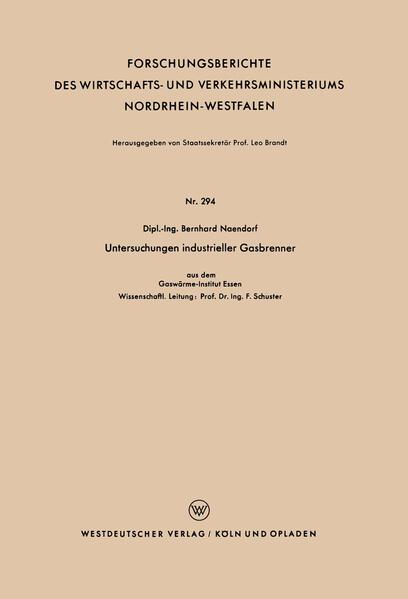 Untersuchungen industrieller Gasbrenner als Buch (kartoniert)