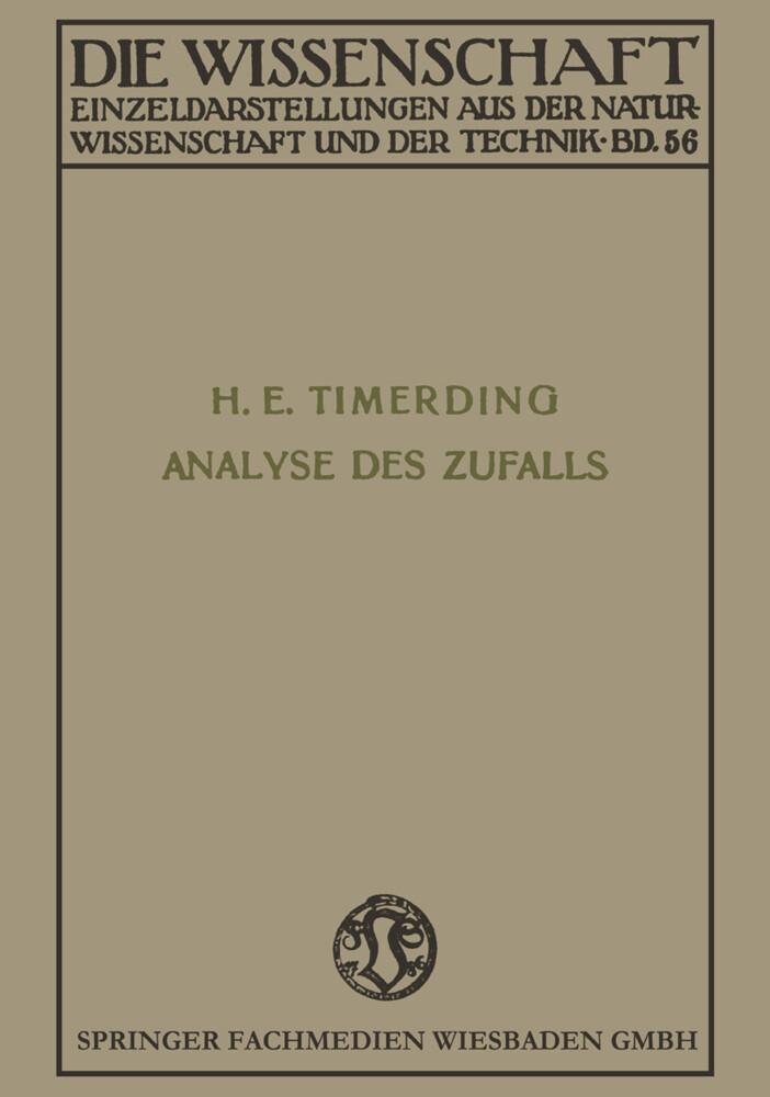 Die Analyse des Zufalls als Buch (kartoniert)