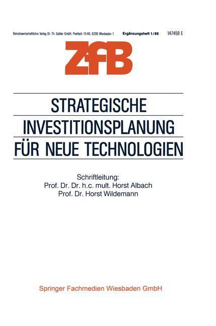 Strategische Investitionsplanung für neue Technologien als Buch (gebunden)