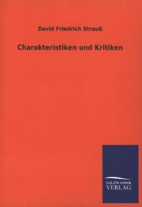 Charakteristiken und Kritiken als Buch (kartoniert)