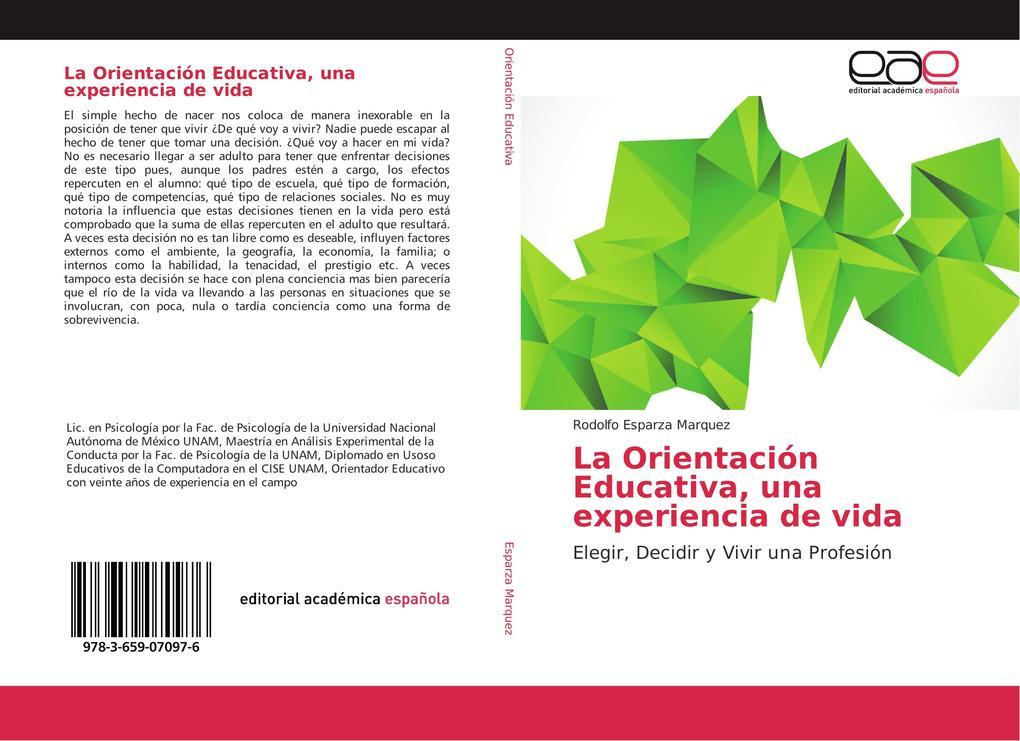 La Orientación Educativa, una experiencia de vida als Buch (kartoniert)