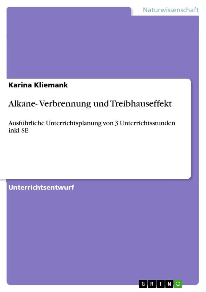Alkane- Verbrennung und Treibhauseffekt als eBook pdf