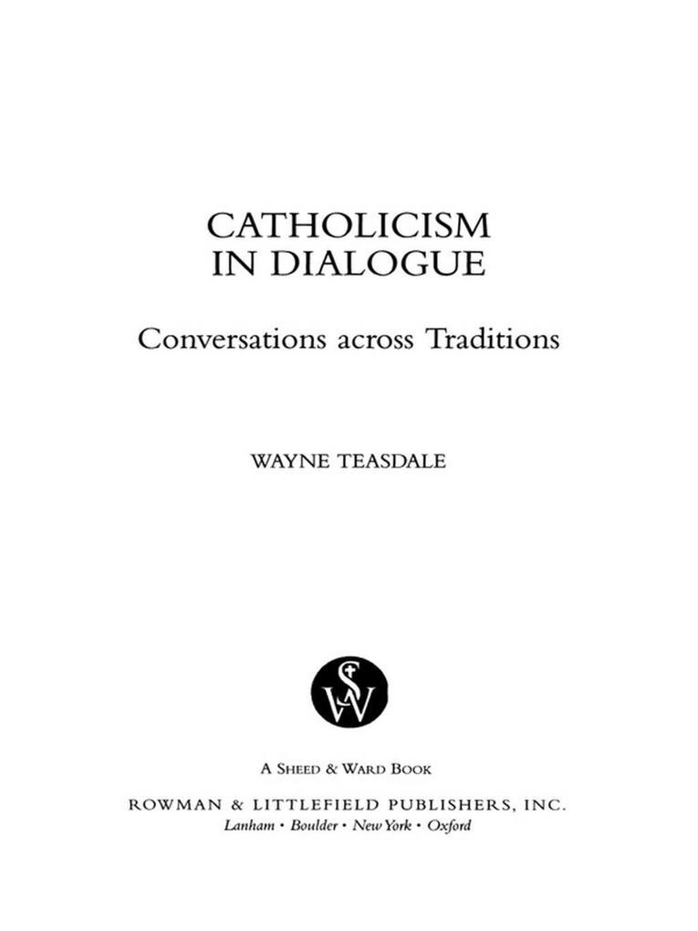 Catholicism in Dialogue als eBook epub