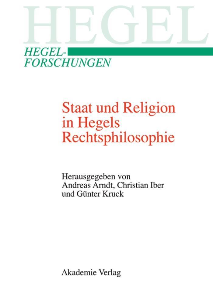 Staat und Religion in Hegels Rechtsphilosophie als eBook pdf