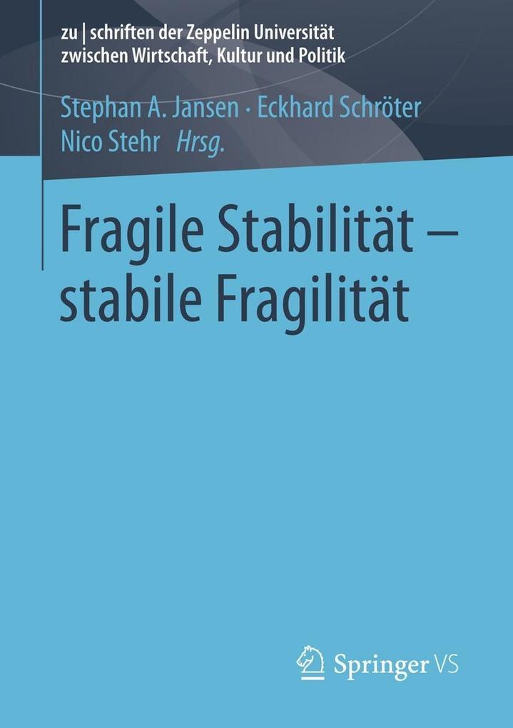 Fragile Stabilität - stabile Fragilität als eBook pdf