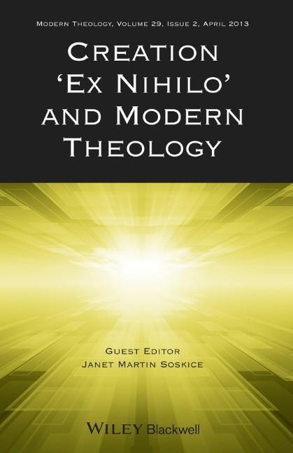 Creation Ex Nihilo and Modern Theology als Taschenbuch
