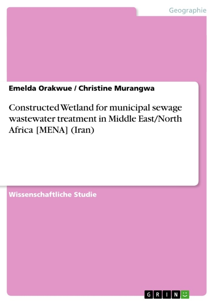 Constructed Wetland for municipal sewage wastewater treatment in Middle East/North Africa [MENA] (Iran) als Taschenbuch