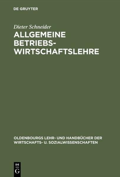 Allgemeine Betriebswirtschaftslehre als Buch (gebunden)
