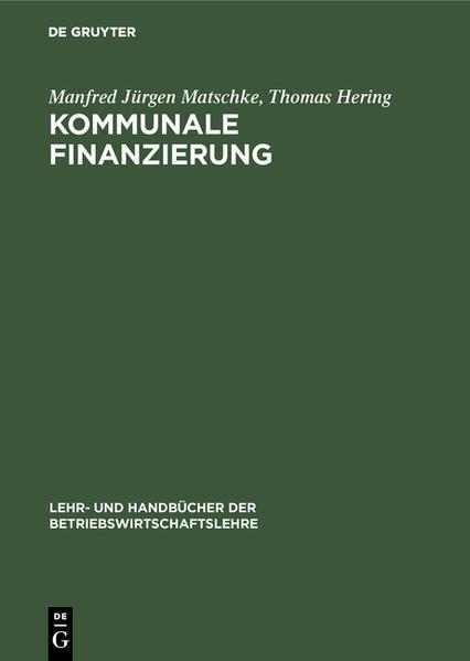 Kommunale Finanzierung als Buch (gebunden)