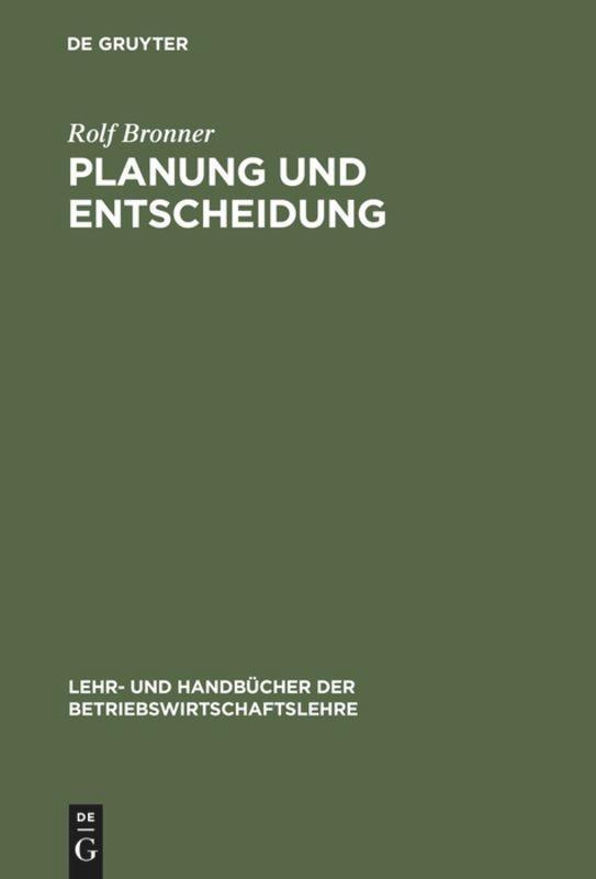 Planung und Entscheidung als Buch (gebunden)