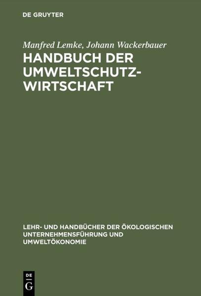 Handbuch der Umweltschutzwirtschaft als Buch (gebunden)