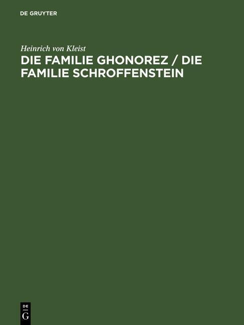 Die Familie Ghonorez / Die Familie Schroffenstein.pdf