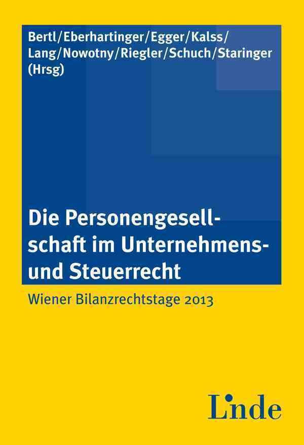 Die Personengesellschaft im Unternehmens- und Steuerrecht (f. Österreich).pdf
