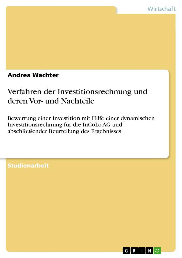 Verfahren der Investitionsrechnung und deren Vor- und Nachteile.pdf