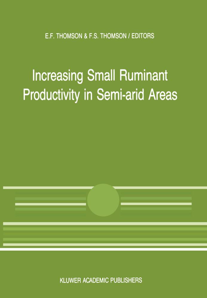 Increasing Small Ruminant Productivity in Semi-arid Areas als Buch (kartoniert)