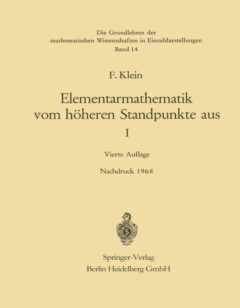 Elementarmathematik vom Höheren Standpunkte aus, I.pdf