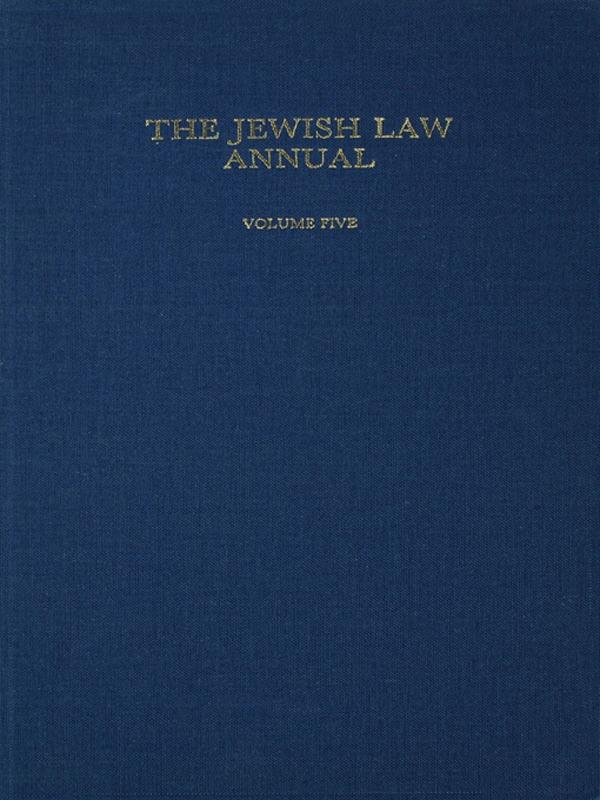 The Jewish Law Annual Volume 5.pdf