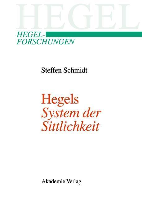 """Hegels """"System der Sittlichkeit"""" als eBook pdf"""
