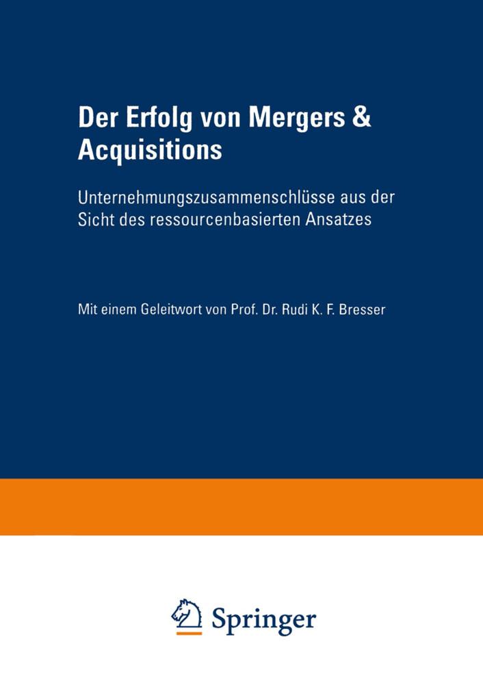 Der Erfolg von Mergers & Acquisitions als Buch (kartoniert)