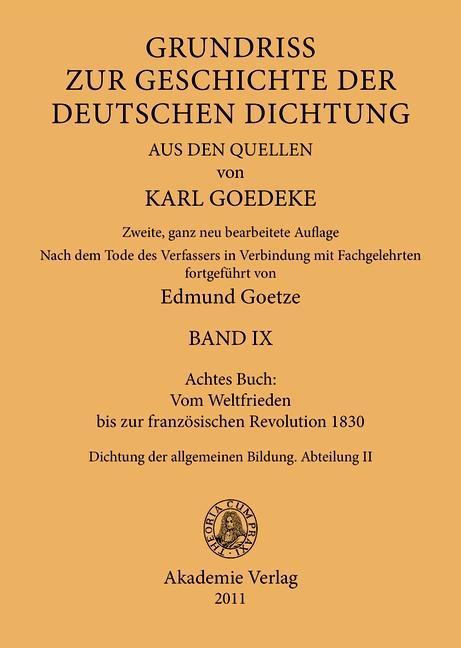 Achtes Buch: Vom Weltfrieden bis zur französischen Revolution 1830 als eBook pdf
